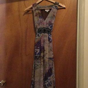 Floor length embellished summer gown
